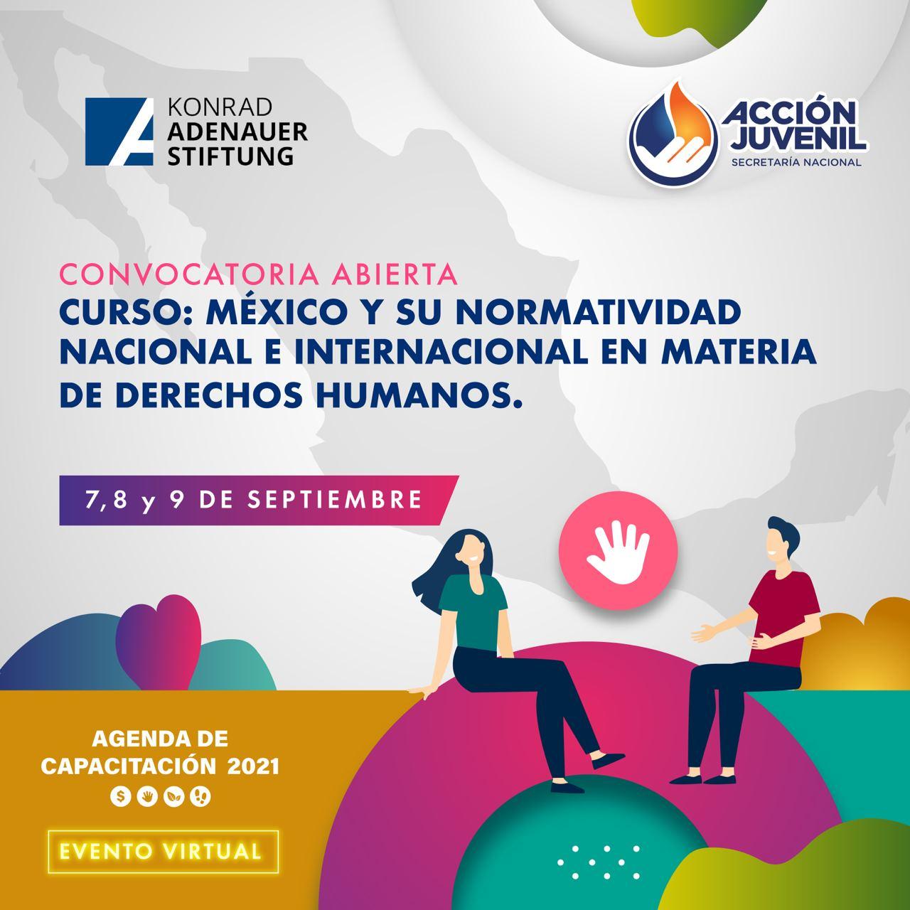 Curso: México y su normatividad nacional e internacional en  materia de Derechos Humanos KAS - SNAJ